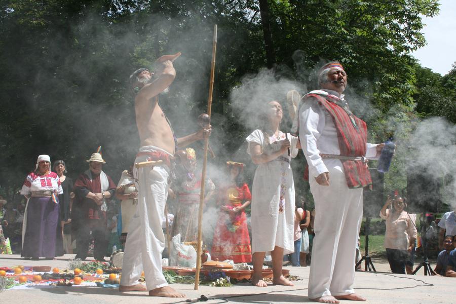 Acto central del Inti Raymi Willkakuti